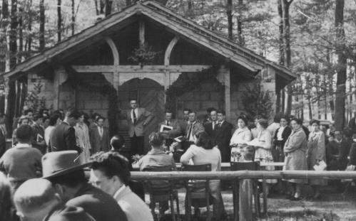 1957 Einweihung Waldhäuschen